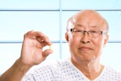 a man showing his medicine